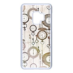 Background Watches Key Time Retro Samsung Galaxy S9 Seamless Case(white)