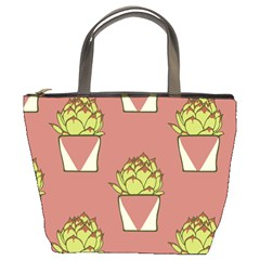 Cactus Pattern Background Texture Bucket Bag by HermanTelo