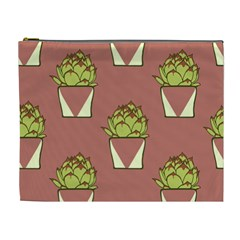 Cactus Pattern Background Texture Cosmetic Bag (xl) by HermanTelo