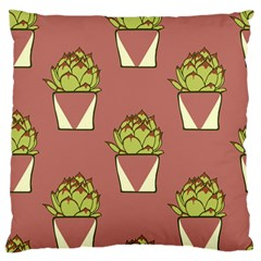 Cactus Pattern Background Texture Standard Flano Cushion Case (two Sides)