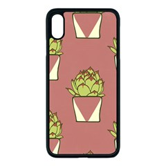 Cactus Pattern Background Texture Iphone Xs Max Seamless Case (black)