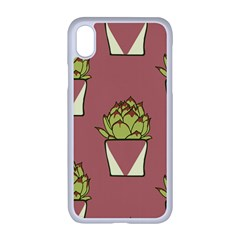 Cactus Pattern Background Texture Iphone Xr Seamless Case (white)