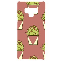 Cactus Pattern Background Texture Samsung Note 9 Black Uv Print Case  by HermanTelo