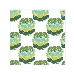 Cactus Pattern Small Satin Scarf (square)