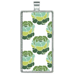 Cactus Pattern Rectangle Necklace by HermanTelo