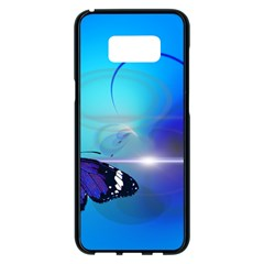 Butterfly Animal Insect Samsung Galaxy S8 Plus Black Seamless Case