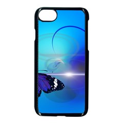 Butterfly Animal Insect Iphone 8 Seamless Case (black)