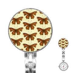 Butterflies Insects Pattern Stainless Steel Nurses Watch by HermanTelo