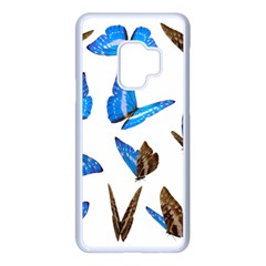 Butterfly Unique Background Samsung Galaxy S9 Seamless Case(white)