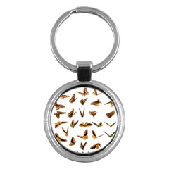 Butterflies Insect Swarm Key Chain (round) by HermanTelo