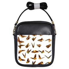 Butterflies Insect Swarm Girls Sling Bag by HermanTelo