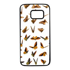 Butterflies Insect Swarm Samsung Galaxy S7 Black Seamless Case by HermanTelo