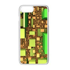 Blocks Cubes Green Iphone 8 Plus Seamless Case (white)