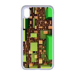 Blocks Cubes Green Iphone Xr Seamless Case (white)