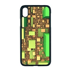 Blocks Cubes Green Iphone Xr Seamless Case (black)