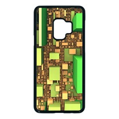 Blocks Cubes Green Samsung Galaxy S9 Seamless Case(black)