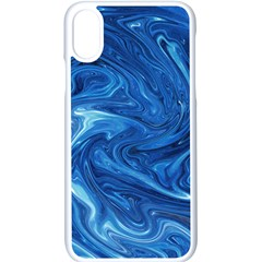 Blue Pattern Texture Art Iphone X Seamless Case (white)