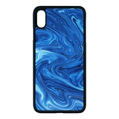 Blue Pattern Texture Art Iphone Xs Max Seamless Case (black)
