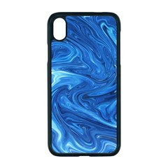 Blue Pattern Texture Art Iphone Xr Seamless Case (black)
