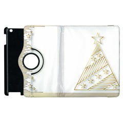 Christmas Tree Star Apple Ipad 2 Flip 360 Case by HermanTelo