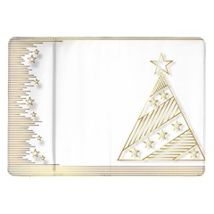 Christmas Tree Star Samsung Galaxy Tab 10 1  P7500 Flip Case
