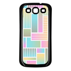 Color Blocks Abstract Background Samsung Galaxy S3 Back Case (black)