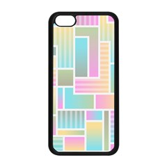 Color Blocks Abstract Background Iphone 5c Seamless Case (black)