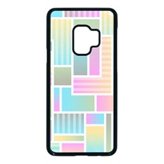Color Blocks Abstract Background Samsung Galaxy S9 Seamless Case(black)