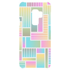 Color Blocks Abstract Background Samsung S9 Plus Black Uv Print Case