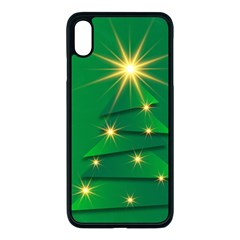 Christmas Tree Green Iphone Xs Max Seamless Case (black)