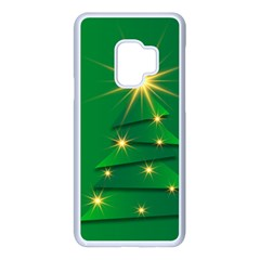 Christmas Tree Green Samsung Galaxy S9 Seamless Case(white)