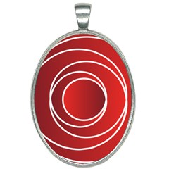 Circles Red Oval Necklace