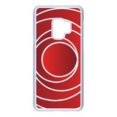 Circles Red Samsung Galaxy S9 Seamless Case(white)