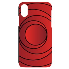 Circles Red Iphone X/xs Black Uv Print Case