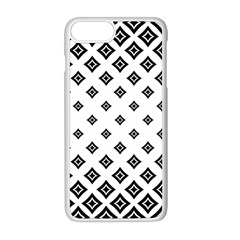 Concentric Plaid Iphone 8 Plus Seamless Case (white)