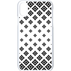 Concentric Plaid Iphone Xs Seamless Case (white)