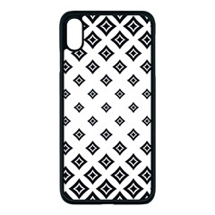 Concentric Plaid Iphone Xs Max Seamless Case (black)
