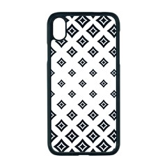 Concentric Plaid Iphone Xr Seamless Case (black)