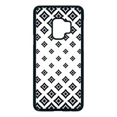 Concentric Plaid Samsung Galaxy S9 Seamless Case(black)
