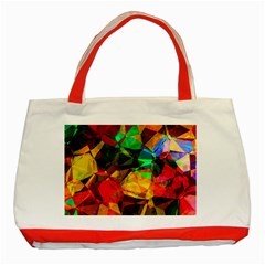Color Abstract Polygon Classic Tote Bag (red) by HermanTelo