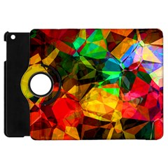 Color Abstract Polygon Apple Ipad Mini Flip 360 Case by HermanTelo