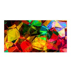Color Abstract Polygon Satin Wrap
