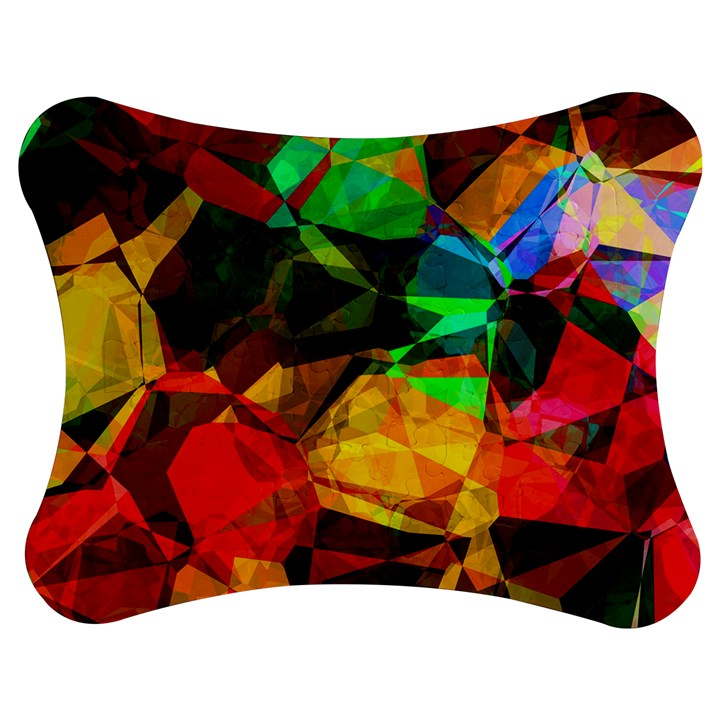 Color Abstract Polygon Jigsaw Puzzle Photo Stand (Bow)