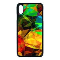 Color Abstract Polygon Iphone Xs Max Seamless Case (black)
