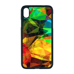 Color Abstract Polygon Iphone Xr Seamless Case (black)