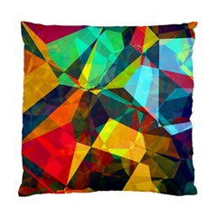 Color Abstract Polygon Background Standard Cushion Case (two Sides)