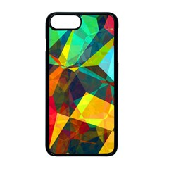 Color Abstract Polygon Background Iphone 8 Plus Seamless Case (black)