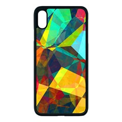Color Abstract Polygon Background Iphone Xs Max Seamless Case (black)