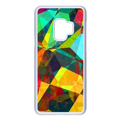 Color Abstract Polygon Background Samsung Galaxy S9 Seamless Case(white)