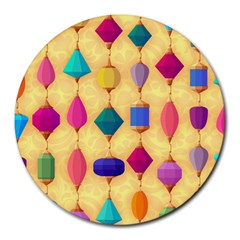 Colorful Background Stones Jewels Round Mousepads